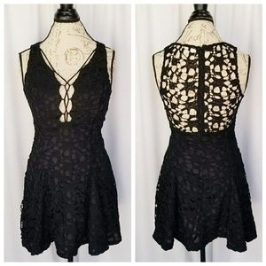 Tea and cup crochet overlay dress